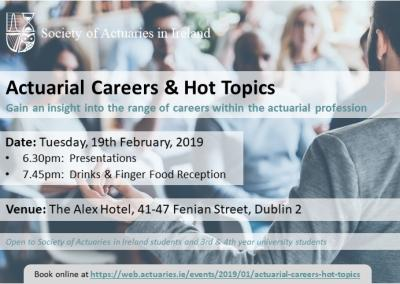 Actuarial Careers & Hot Topics